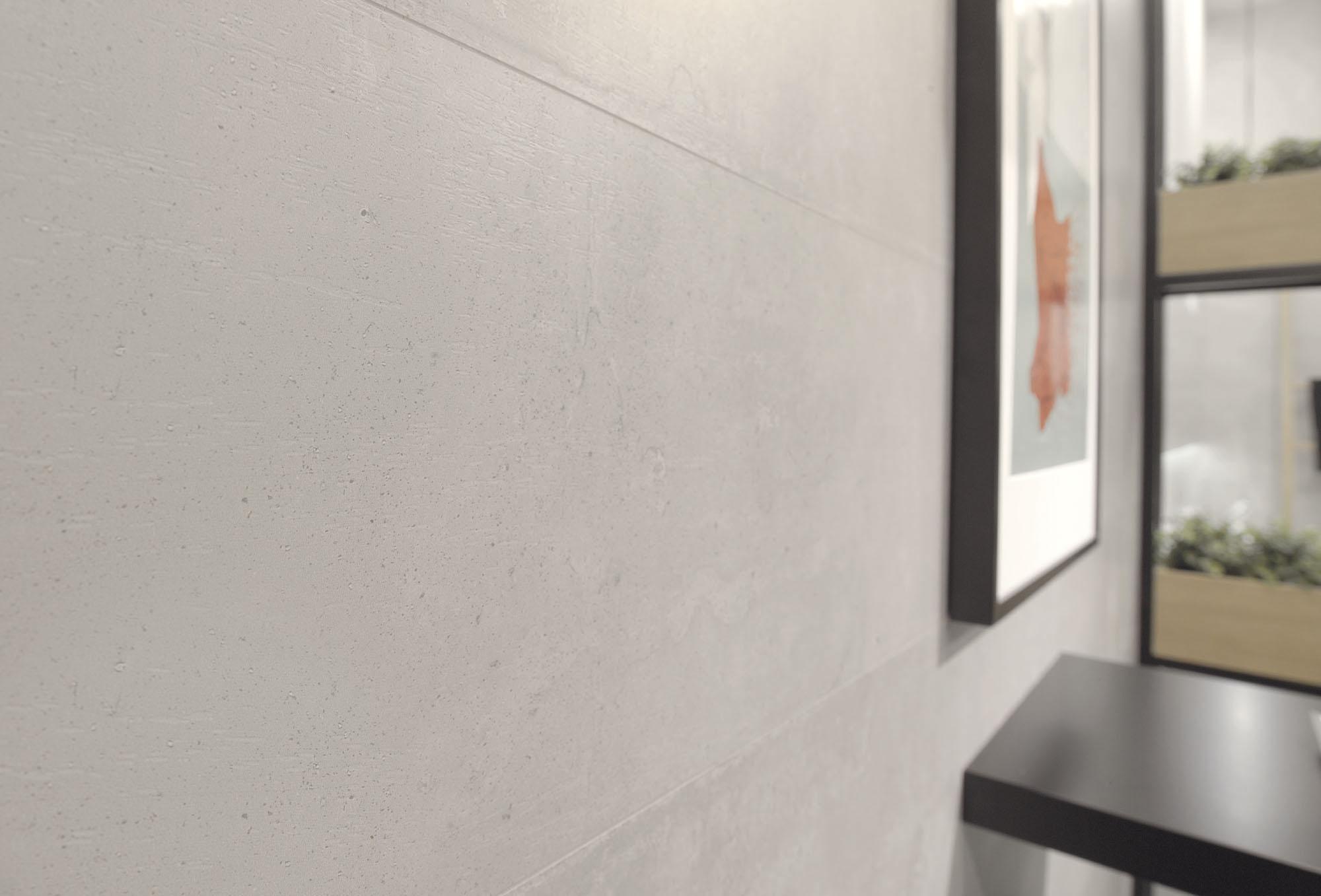 Cevisama 2017_Plaster Grey + Mosaic Glitter White_porm01