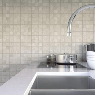 Kompact Mosaic White_Cozinha amb