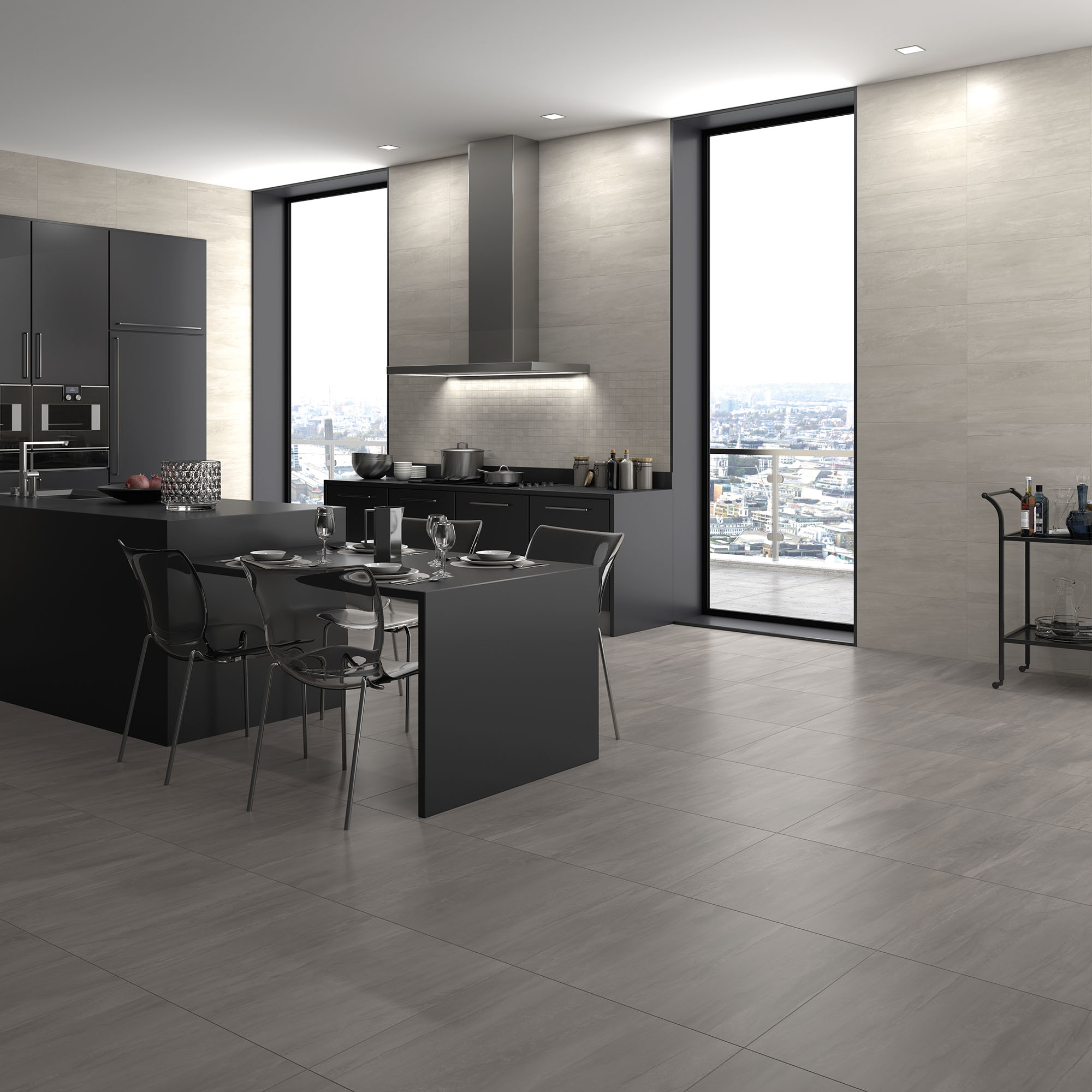 Miami Grey + Anthracite_Cozinha amb