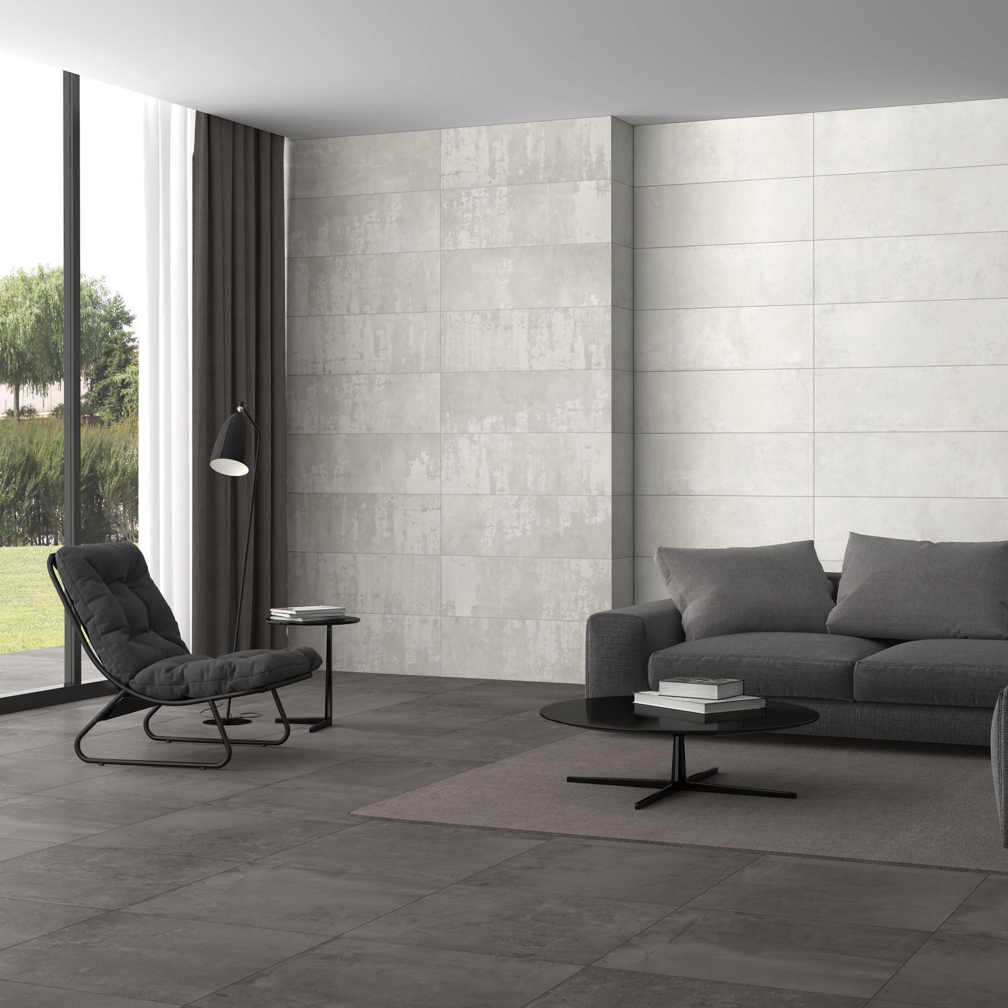 Plaster White + Decor Grey_Sala amb