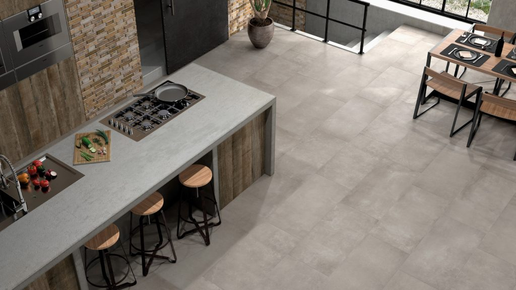 boulevard cimento sala cerâmica chão pavimento