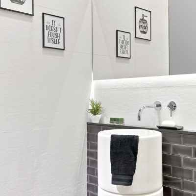 Cevisama 2019_Essence Branco + Feel Negro_WC porm