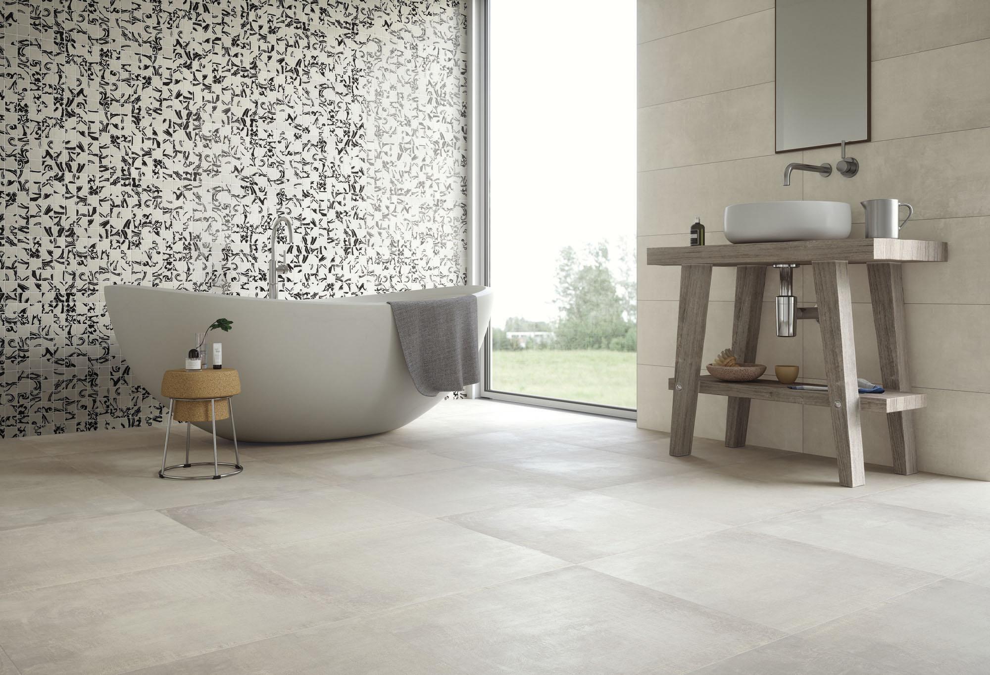 Touch Light Grey+Mosaic Charm_WC amb