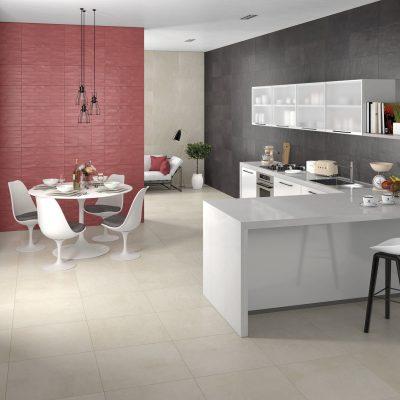 Liv'in Brick Blush Red + Charcoal Black_Cozinha amb