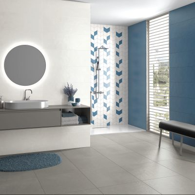 Liv'in Cloud White + Colonial Blue_WC amb