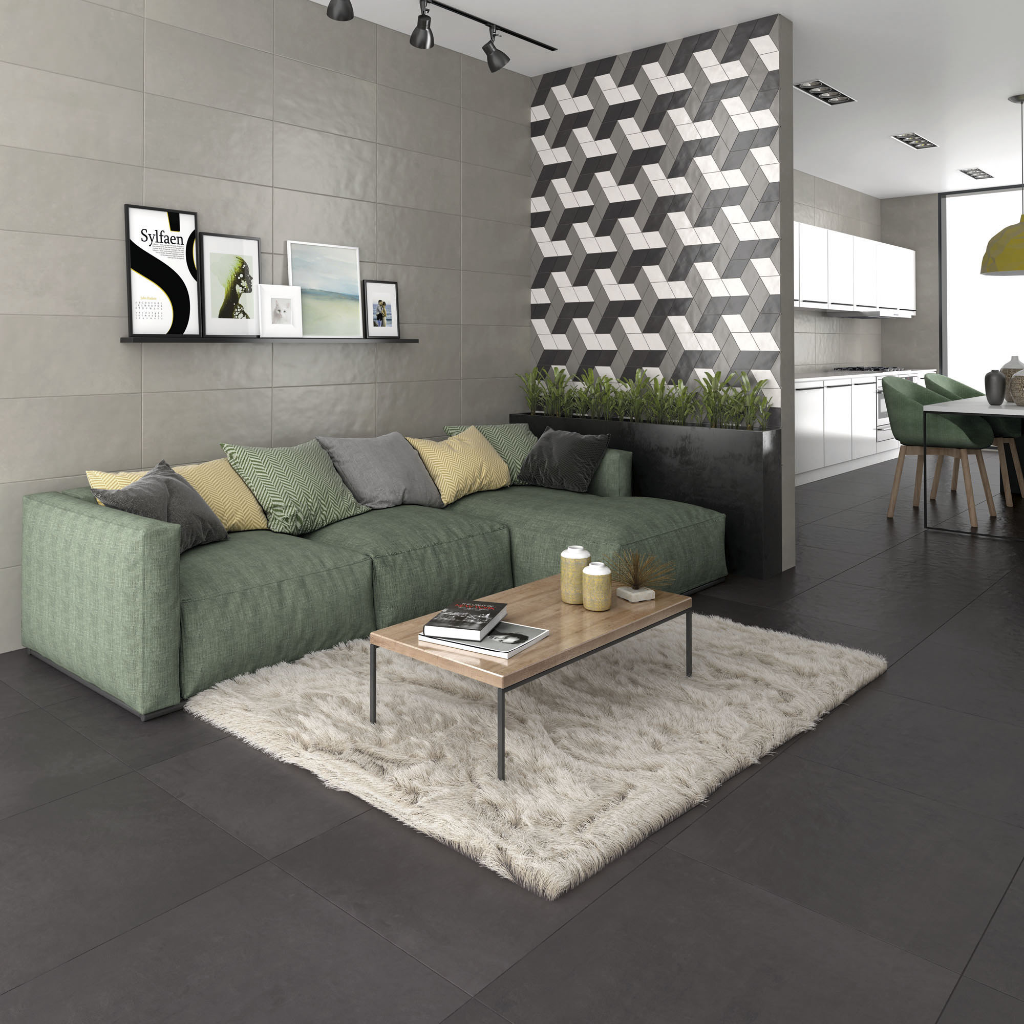 Liv'in Luna Grey + Charcoal Black_Sala amb