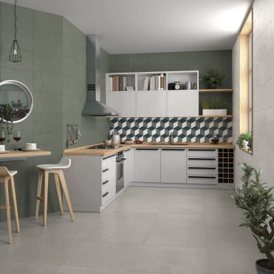 Liv'in Olive Green + Luna Grey_Cozinha amb