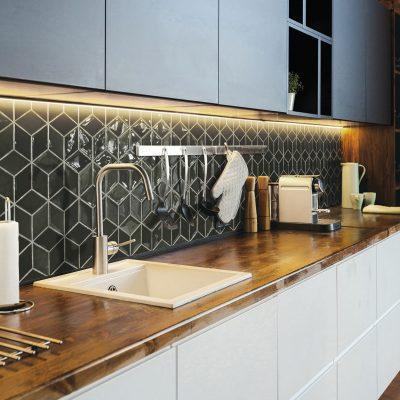 New Zellige Diamond Olive_Cozinha amb