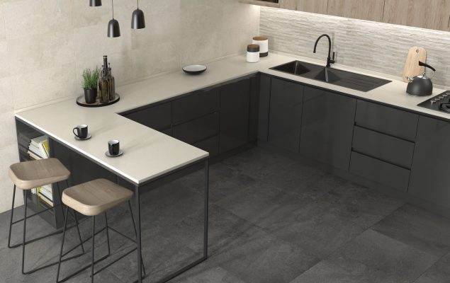 Urban Stone Muretto Greige + Anthracite_Cozinha amb