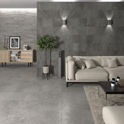 Urban Stone Muretto Grey + Anthracite_Sala amb