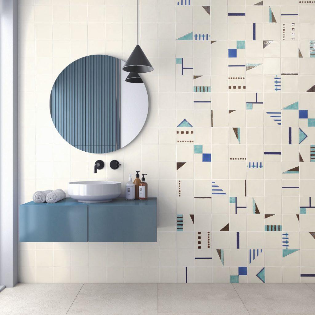 signature turquoise wc peinture manuelle décoration intérieure